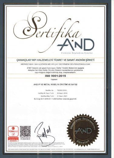 Wood Furniture Production and Sales Certificate