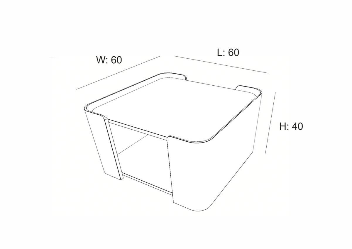 Lupo Coffee Table (60 cm)
