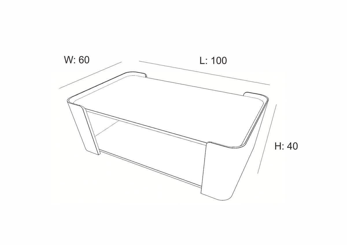 Lupo Coffee Table (100 cm)